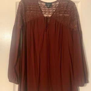 Brown tunic dress